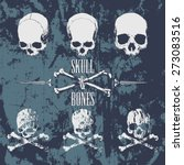 Skulls And Cross Bones On The...