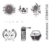 vector collection of honey logo ... | Shutterstock .eps vector #273084710