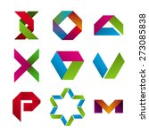 collection of abstract icons of ... | Shutterstock .eps vector #273085838
