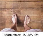 Bare Feet Of A Runner On A...