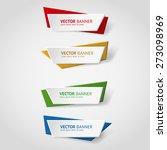 vector infographic origami... | Shutterstock .eps vector #273098969