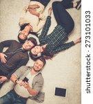 happy multiracial friends...   Shutterstock . vector #273101033