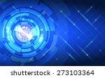 Abstract Technology Circles An...