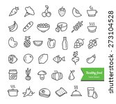 hand drawn healthy food... | Shutterstock .eps vector #273104528