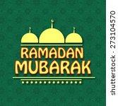 ramadan mubarak | Shutterstock .eps vector #273104570