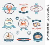 watercolor set of labels and... | Shutterstock .eps vector #273108578