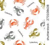 watercolor seamless pattern... | Shutterstock .eps vector #273108638