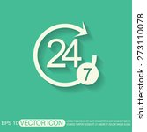 24 7 icon. open 24 hours a day... | Shutterstock .eps vector #273110078