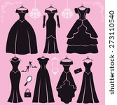 fashion dress. different styles ... | Shutterstock .eps vector #273110540