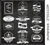 black retro sales best quality ... | Shutterstock .eps vector #273111239