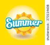 beautiful summer illustrations .... | Shutterstock .eps vector #273114608