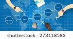 supply chain management scm | Shutterstock .eps vector #273118583