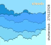 paper cut clouds background or... | Shutterstock .eps vector #273122528