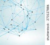 wireframe polygonal element.... | Shutterstock .eps vector #273127886