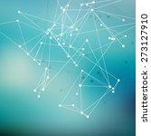 wireframe polygonal element.... | Shutterstock .eps vector #273127910