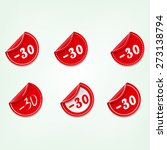 set of red round sale stickers   Shutterstock .eps vector #273138794