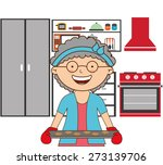 grandmother cooking design ...