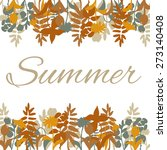 summer card with hand drawn... | Shutterstock .eps vector #273140408