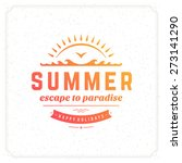summer holidays typography for... | Shutterstock .eps vector #273141290