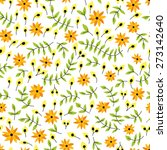 seamless pattern with flowers ... | Shutterstock .eps vector #273142640