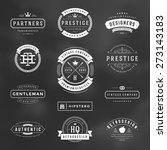 retro vintage insignias or... | Shutterstock .eps vector #273143183