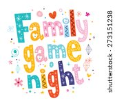 family game night | Shutterstock .eps vector #273151238