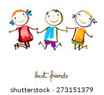 best friends | Shutterstock .eps vector #273151379