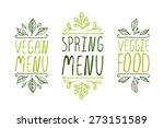 hand sketched typographic... | Shutterstock .eps vector #273151589