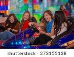 group of kids or girls having... | Shutterstock . vector #273155138