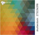 vector geometric shapes.... | Shutterstock .eps vector #273156398
