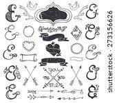 doodles lettering ampersands... | Shutterstock .eps vector #273156626