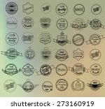 mega set of thin lineretro... | Shutterstock .eps vector #273160919