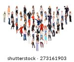 united colleagues corporate... | Shutterstock . vector #273161903