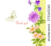 vintage greeting card with... | Shutterstock .eps vector #273165260