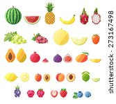 fruit vector icon set. modern... | Shutterstock .eps vector #273167498