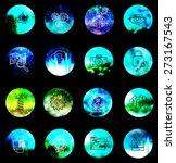 universal modern icons on blur... | Shutterstock .eps vector #273167543
