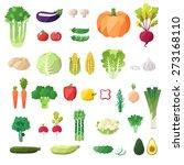 vegetable icon vector set....   Shutterstock .eps vector #273168110
