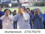 chinese americans practicing... | Shutterstock . vector #273170270