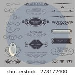 set of calligraphic elements... | Shutterstock .eps vector #273172400