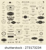set of calligraphic elements... | Shutterstock .eps vector #273173234