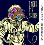 space concept with astronaut ... | Shutterstock .eps vector #273174824
