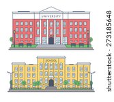 the building of the university... | Shutterstock .eps vector #273185648