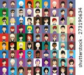 collection of avatars15   81... | Shutterstock .eps vector #273190634