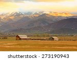 rural farm with a dramatic... | Shutterstock . vector #273190943