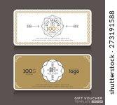 gift certificate voucher coupon ... | Shutterstock .eps vector #273191588