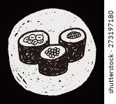 sushi doodle | Shutterstock .eps vector #273197180