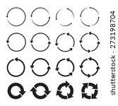 Set Of Black Circle Vector...