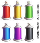 set of cartoon color spray cans | Shutterstock .eps vector #273201308