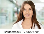 women  business  smiling. | Shutterstock . vector #273204704