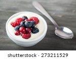 yoghurt  yogurt  fruit. | Shutterstock . vector #273211529